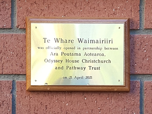 Official Plaque on the opening of the new facility
